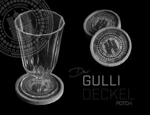 Glasuntersetzer HAMBURGER GULLIDECKEL