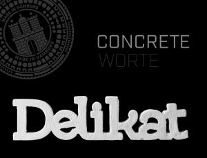 Buchstaben / Worte aus Beton / CONCRETE WORTE