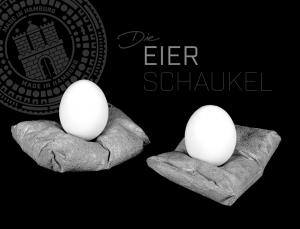 Eierbecher aus Beton DIE EIERSCHAUKEL