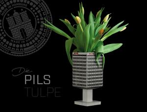 Blumenvase aus Beton DIE PILSTULPE / ASTRATURM HAMBURG