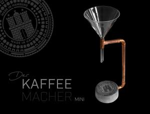 Kaffeeaufbereiter aus Beton / DER KAFFEEMACHER MINI / GULLIDECKEL HAMBURG