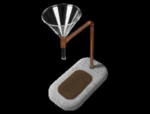 Kaffeeaufbereiter aus Beton / DER KAFFEEMACHER MAXI
