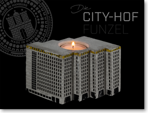 Kerzenhalter aus Beton CITY-HOF HAMBURG