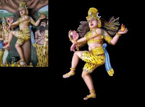 "EBV / Elektronische Bildbearbeitung - Illustration ""Shiva"""