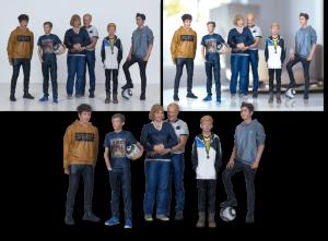 """EBV / Elektronische Bildbearbeitung - Composing 3D-Figur """"Familie"""""""