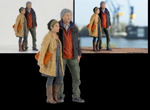 """EBV / Elektronische Bildbearbeitung - Composing 3D-Figur """"Paar"""""""