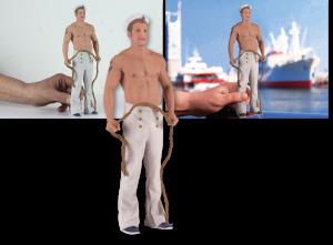 """EBV / Elektronische Bildbearbeitung - Composing 3D-Figur """"Matrose"""""""