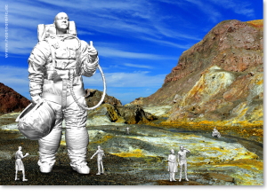 "EBV / Elektronische Bildbearbeitung - Composing ""White Island III"""