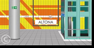 """Kunstdruck """"UNTERIRDISCH - Altona"""" (2019)"""