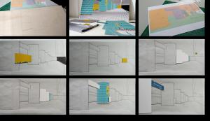 """3D-Kunst HAPTOGRAFIE """"UNTERIRDISCH - Landungsbrücken"""" (2019)"""