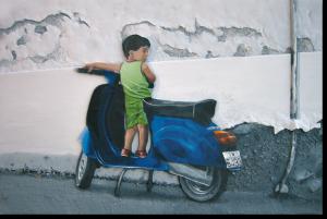 """3D-Kunst HAPTOGRAFIE """"GREECE II"""" (2005)"""