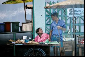 """3D-Kunst HAPTOGRAFIE """"THAILAND I"""" (2004)"""