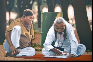 """3D-Kunst HAPTOGRAFIE """"THAILAND III"""" (2006)"""