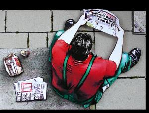 """3D-Kunst HAPTOGRAFIE """"MAHLZEIT"""" (2009)"""