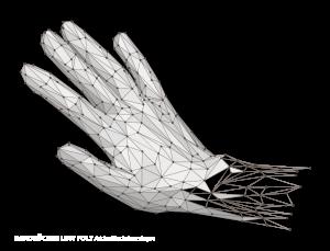 """3D-Scan und Vektorisierung Hand Low Poly """"HANDRÜCKEN"""""""