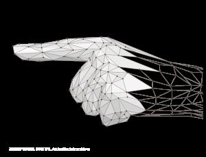 """3D-Scan und Vektorisierung Hand Low Poly """"ZEIGEFlNGER DIGITAL"""""""
