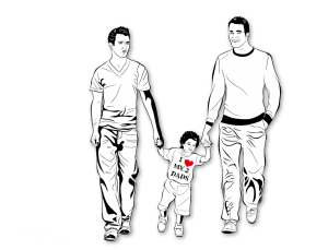 "Illustration / Vektorisierung ""I LOVE MY 2 DADS"""