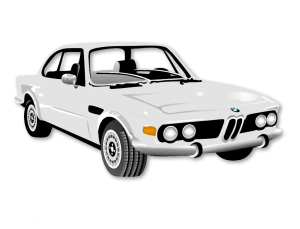 "Illustration / Vektorisierung ""BMW CS 3.0"""