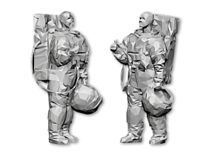 "Illustration Low Poly Art ""ASTRONAUT"""