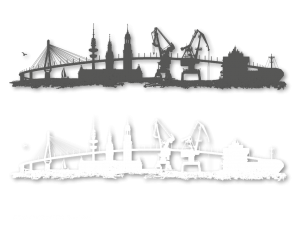 Illustration / Vektorisierung HAMBURGER SKYLINE