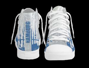 Gestaltung Bedruckte Schuhe HAMBURGER SKYLINE