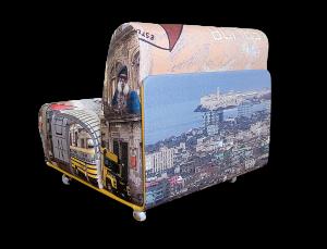 Gestaltung / Bildbearbeitung bedruckter Loungesessel CUBA I