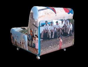 Gestaltung / Bildbearbeitung bedruckter Loungesessel CUBA II