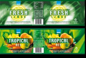 Reinzeichnung Etiketten