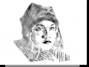 """Zeichnung KREUZSCHRAFFUR """"CONNY"""" (1997)"""