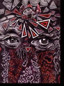"""ZEICHNUNG KUGELSCHREIBER """"POLYPOSIS NASI"""" 1995"""