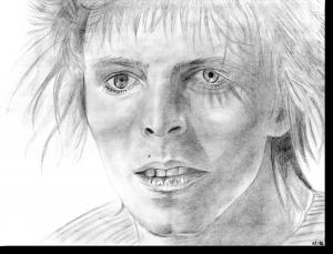 BLEISTIFTZEICHNUNG David Bowie